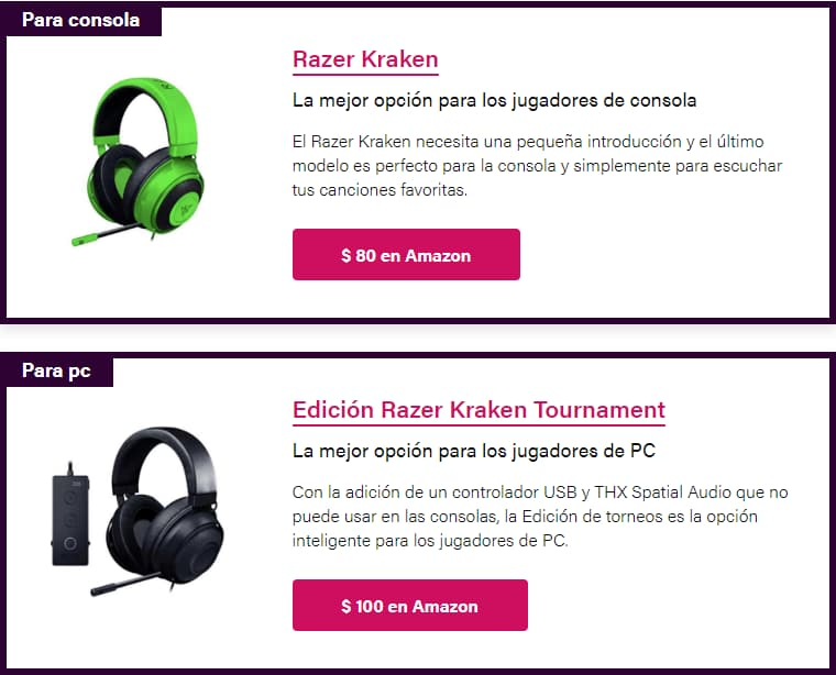 diferencia importante entre Kraken y Razer Kraken Tournament Edition