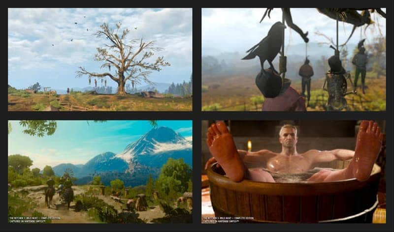 The Witcher 3 imagenes de comparacion