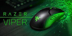 Mouse Viper Razer Para Jugadores Ambidiestro ligero y rápido